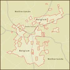 belgium and netherlands map a map of the strange border s between the netherland flickr