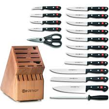 wusthof kitchen knives wusthof gourmet 18 knife block set