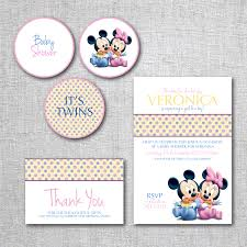 photo mickey mouse baby shower invitations image