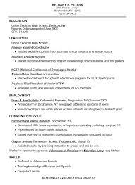 Resume Template High Resume For High Template Gfyork Com