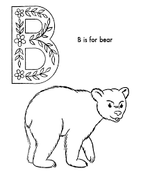 abc alphabet coloring sheets abc bear animals coloring