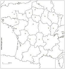 European Map Blank by Outline Map With French Regions And Regional Capitals