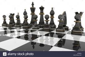 chess table chess table with metal chess figures isolated on white three