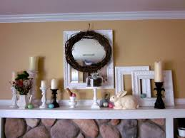 Easter Decorations For Wreaths by Fabulous Fireplace Mantel For Easter Decoration Complete