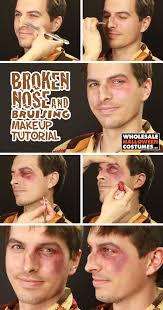 halloween makeup wax broken nose u0026 bruising tutorial wholesale halloween costumes blog