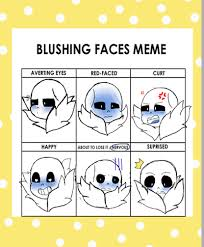 Sans Meme - blushing sans meme by mxp00912 on deviantart
