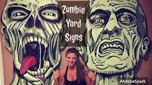 diy zombie signs halloween outdoor yard prop decoration walking