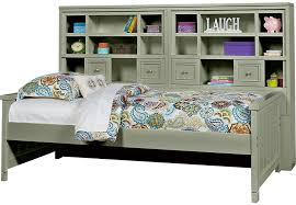 Daybed With Bookcase Cottage Colors Green 5 Pc Twin Bookcase Daybed Daybeds Colors