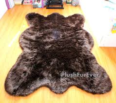 How Much Does A Bear Rug Cost 4 U0027 X 6 U0027 Clearance Saves 40 Dollars Big Brown Bear Faux Fur Rug