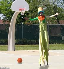 clown stilts clown on stilts basketball pictures