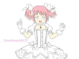 tutorial how to draw madoka with a wacom tablet and sai paint