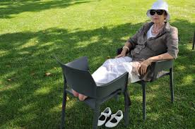 free images grass woman lawn chair summer sitting backyard