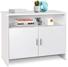 horizontal kitchen storage cabinets amzdeal kitchen storage sideboard storage cabinet free standing cupboard with 2 level cabinets and an open shelf dining room entryway decor living