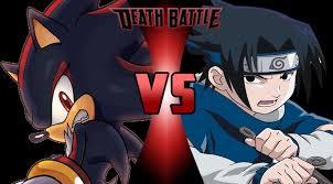 vs sasuke shadow the hedgehog vs sasuke uchiha battle fanon wiki