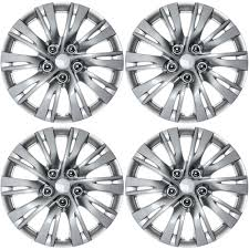 nissan sentra hubcaps 2016 4 pc hub caps abs silver lacquer 16