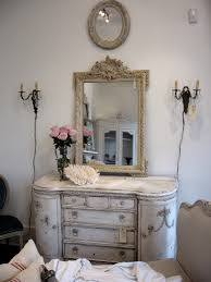 French Chic Home Decor by Blue And Beige Bathroom Black Frame Rectangular Mirror On White