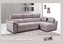 Electric Recliner Sofa by Corner Sofas With Recliners Centerfieldbar Com