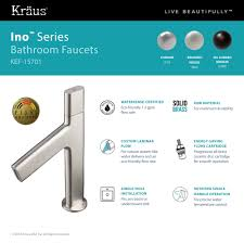 Kitchen Faucets Made In Usa by Kraus Ino Basin Single Handle Bathroom Faucet With Custom Laminar