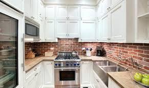 kitchen with brick backsplash brick backsplash for kitchen katecaudillo me