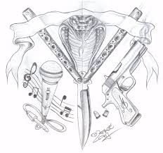 gang knife gun tattoo design by 2face tattoo on deviantart
