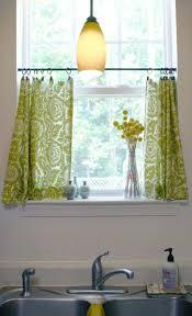 bright green curtain idea for fresh kitchen design pretty