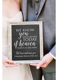 wedding memorial sign personalized wedding memorial sign david s bridal