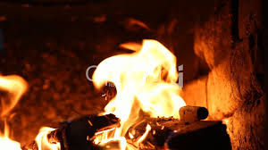 beautiful fire in the fireplace royalty free video and stock footage