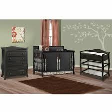 black crib with changing table storkcraft 3 piece nursery set verona convertible crib aspen