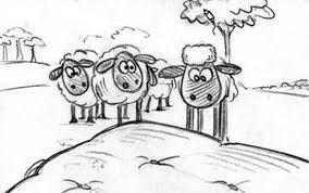 flock looked shaun sheep coloring color luna