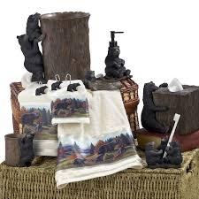 Avanti Bathroom Accessories by Black Bear Lodge Bathroom Accessories Collection