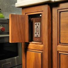 kitchen island outlets hiding electrical outlets on an island low profile fits within