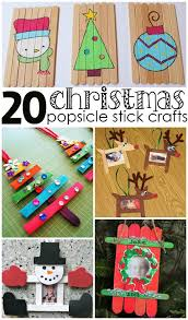 Holiday Crafts For Toddlers - christmas popsicle stick crafts for kids to make popsicle stick