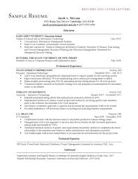 Enterprise Management Trainee Program Resume Resume Sample Harvard University Template