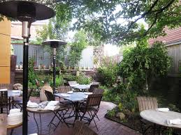 romantic outdoor dining area for resort restaurant uding natural