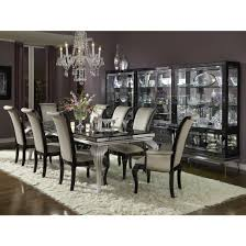 michael amini dining table hollywood swank rectangular glam dining room set by michael amini
