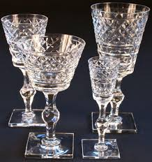 vintage hawkes heavy hand cut crystal service for 12 from