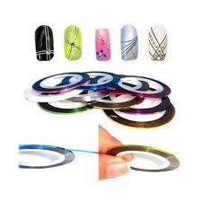 amazon com 10 color rolls nail art decoration striping tape beauty