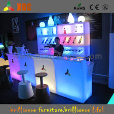 Acrylic Bar Table Led Portable Bar Acrylic Nightclub Table Counter Intended For