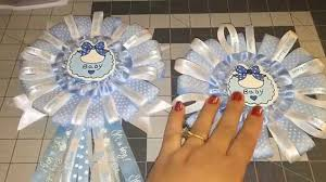 how to make a baby shower corsage blue baby shower corsage diy do it yourself