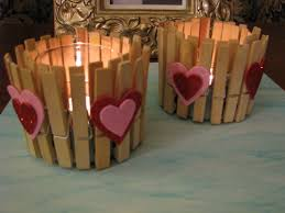 Valentine S Day Decoration Ideas At Home by Valentines Day Decor Ideas Home Candle Holders Clothespins Felt