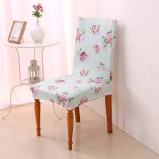 Cotton Dining Chair Covers Aliexpress Com Buy Pink Flowers Chair Covers Polyester Cotton