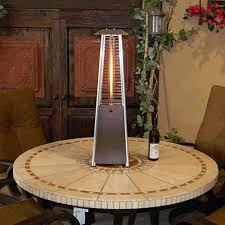 Heat Focusing Patio Heater Az Patio Heater Bronze Portable Glass Tube Tabletop Heater