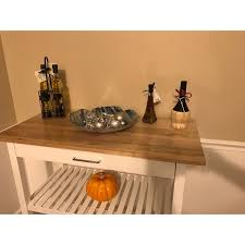 kitchen island with natural solid wood top free shipping today