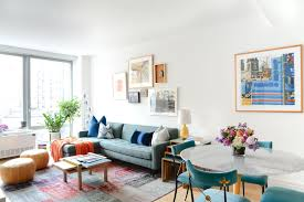 New York City Home Decor Homepolish Reinvents A Cookie Cutter Condo With Color Home Tour