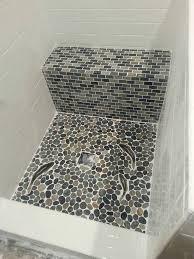 mosaic tiles bathroom ideas plain pebble mosaic tile bathroom eizw info