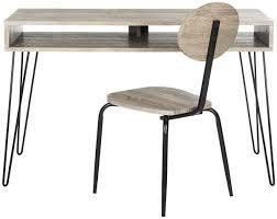 Black Desk And Chair Fox2232a Desks Furniture By Safavieh