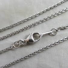 platinum necklace images Platinum chain link necklace 38 3cm 15 quot vintage 1998 english JPG