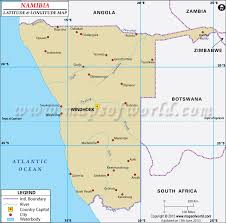 africa map kalahari desert latitude and longitude map