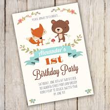 woodland birthday party invitation template edit with adobe