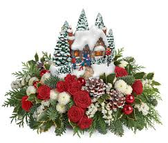 country christmas centerpieces kinkade country christmas centerpiece by teleflora